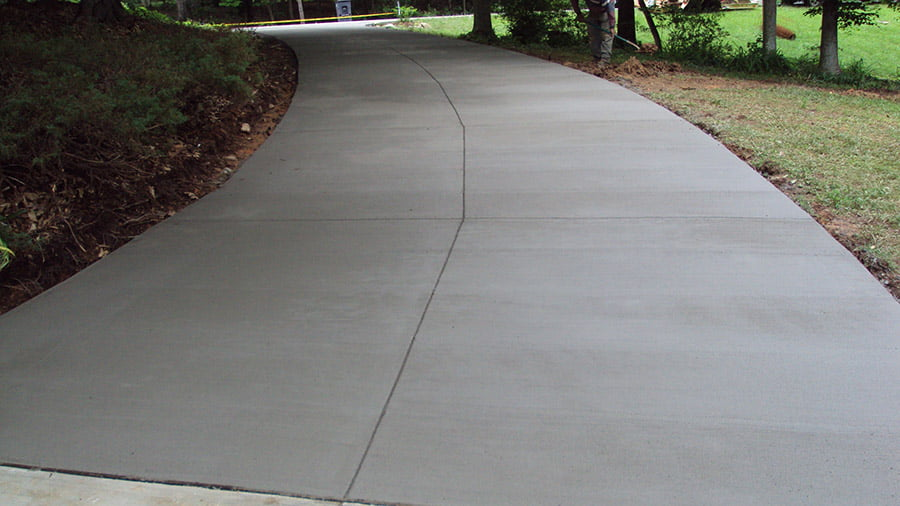 Newly installed natural-looking driveway in Seattle, WA